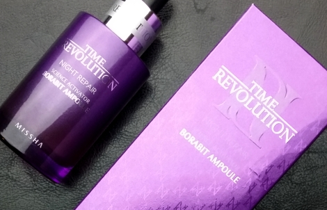 Missha Time Revolution Night Repair Borabit Ampoule review