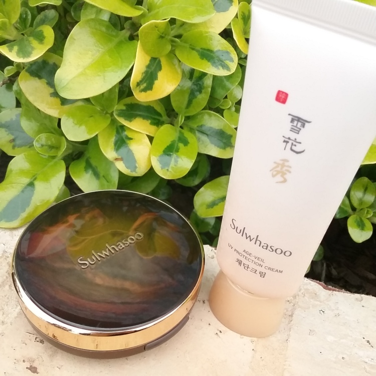 Sulwhasoo cushion and sunscreen review