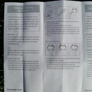 Amorepacific Intensive Vitalizing Eye Essence instructions
