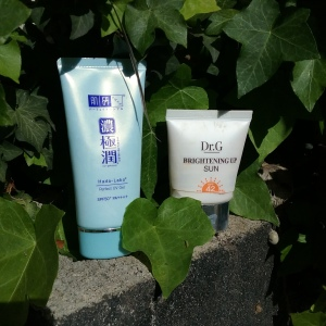Hada Labo and Dr G sunscreens
