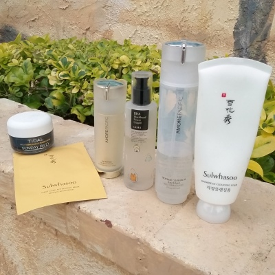 Korean beauty skincare routine with Sulwhasoo
