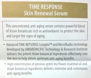 Amorepacific Time Response serum package insert