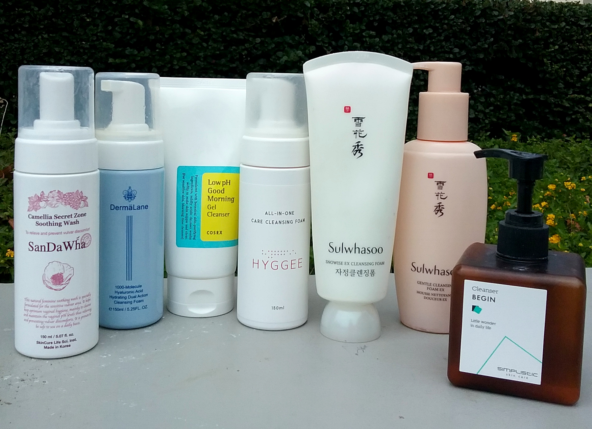 Ph facial cleansers