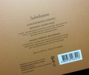 Sulwhasoo Concentrated Ginseng Renewing Creamy Mask product claims