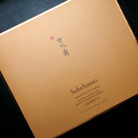 Sulwhasoo Concentrated Ginseng Renewing Creamy Mask box