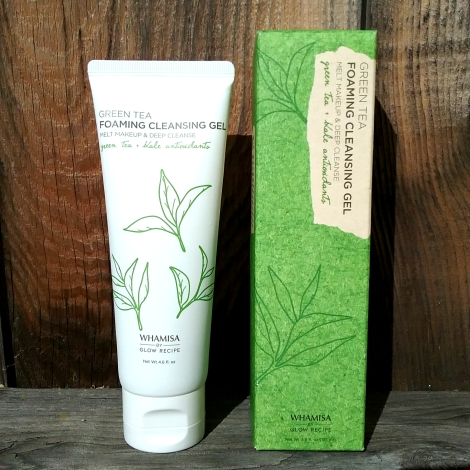 Whamisa by Glow Recipe green tea cleanser and box