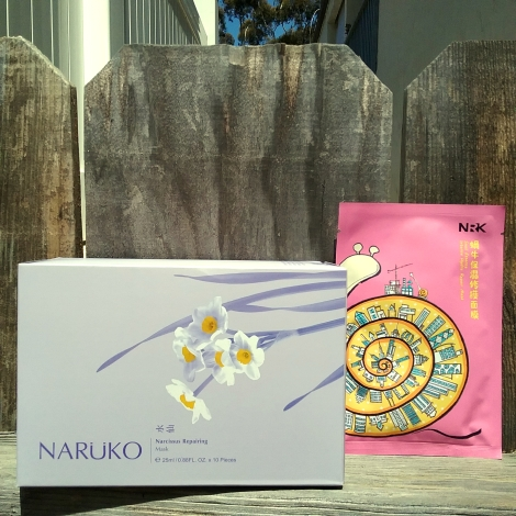 Naruko Narcissus Repairing Mask and Snail Essence Intense Hydra Repair sheet masks