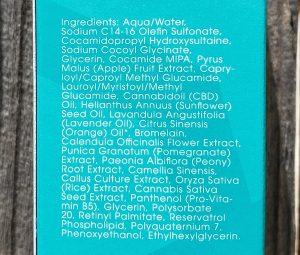 Cannatera Refresh Cleanser ingredients